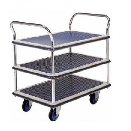 Hand Trolley Dual Handle Tripple Table (NF-305)